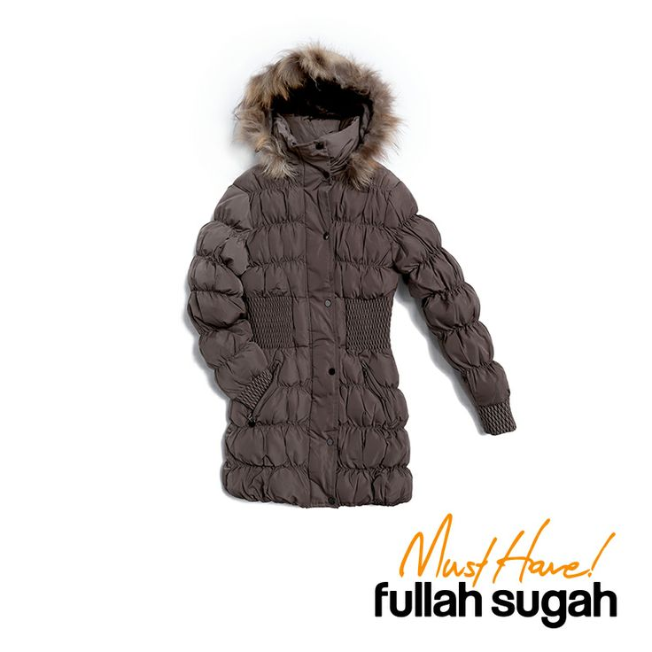 Autumn/Winter 2014 | FULLAHSUGAH FUR TRIM HOOD PADDED COAT | €79.90 | 4415104718 | http://fullahsugah.gr