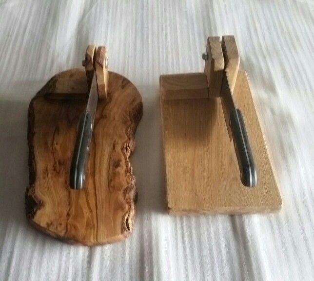 Olive wood and Oak biltong cutters / slicer