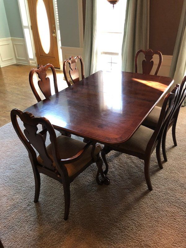 Used American Drew Dining Room Set Dining Table Dining Neoclassical Design