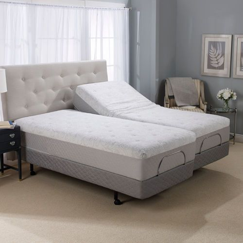 "12"" Serafina Split King Gel Memory Foam Mattress with ..."