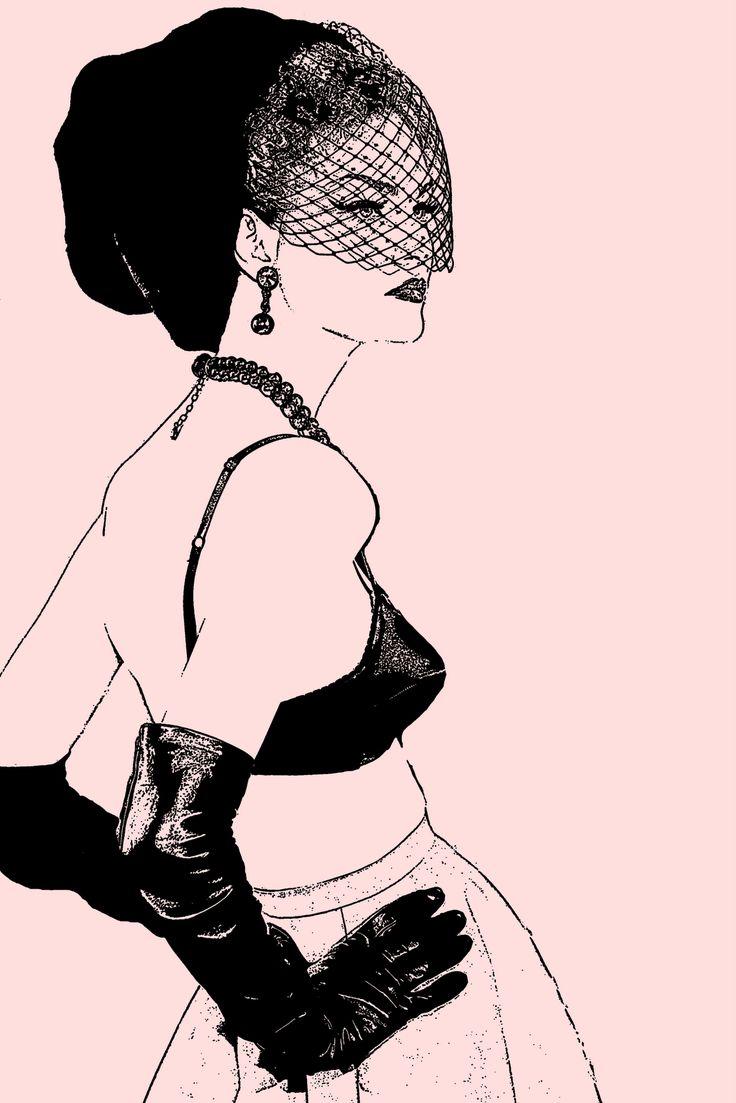 Jade's Vintage Delights: Fashion Illustrations (Digitally Drawn)