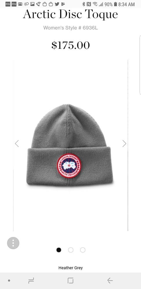 907b9e14021 Canada Goose Winter Hat Heather Grey 6936L Arctic Disc Toque Knit Unisex   175  fashion  clothing  shoes  accessories  womensaccessories  hats (ebay  link)