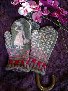 Knit mittens/gloves Disney, Mary Poppins Free Pattern