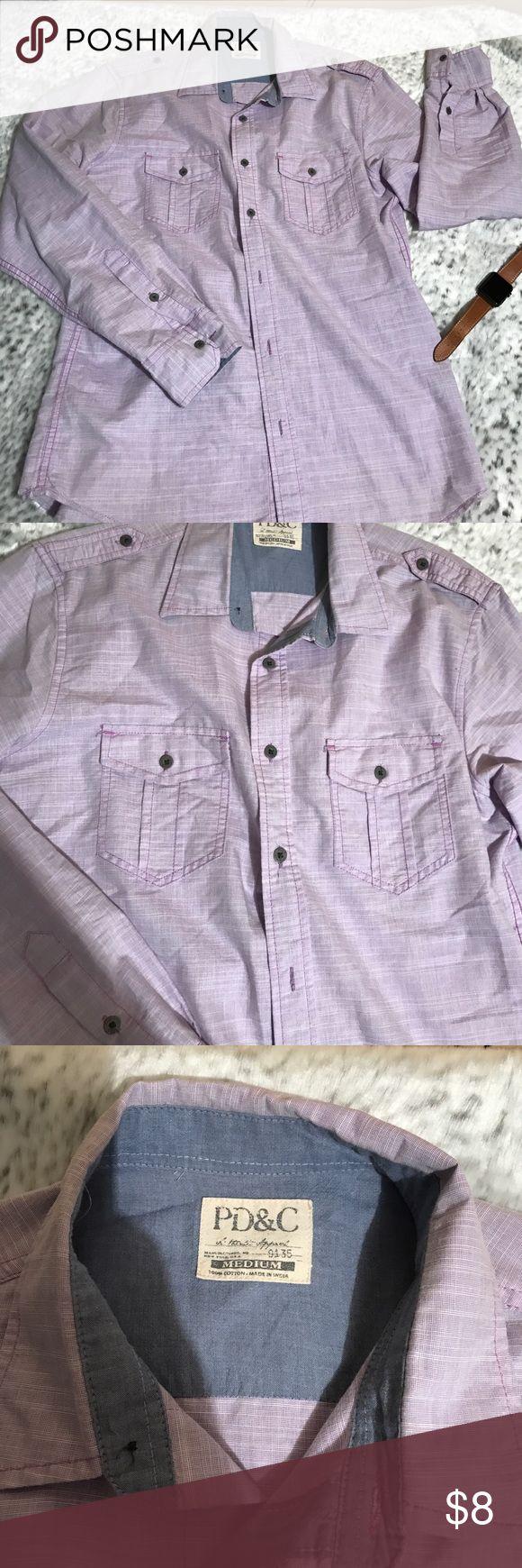 Light purple dress shirt Button down men's shirt. Light purple. Worn 1x. Small little stain seen in photo. Shirts Casual Button Down Shirts