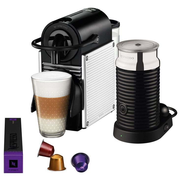Nespresso Pixie #coffee  Machine with Aeroccino by Magimix on sale in the UK along with best prices on many other appliances available online.