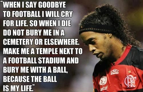 Honestly, one of the greatest. Ronaldinho. Love for the game.