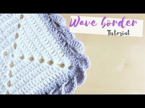 Crochet How To Add A Crochet Border Scalloped Shell