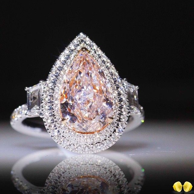 ken diamond rose rustic dana design f gold pear audrix halo unique light rough rings products engagement ring pink shaped