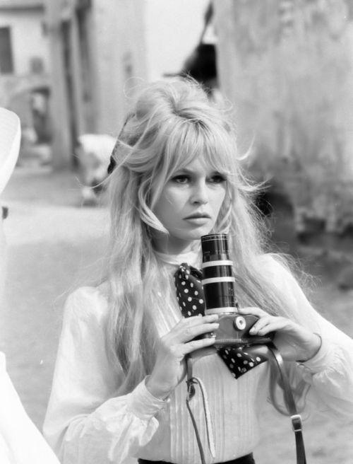 Brigitte Bardot rocking her classic disheveled beehive