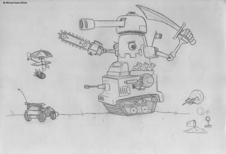 I should think of the concept before I start drawing... But sword-robot-tank-thing is fine by me
