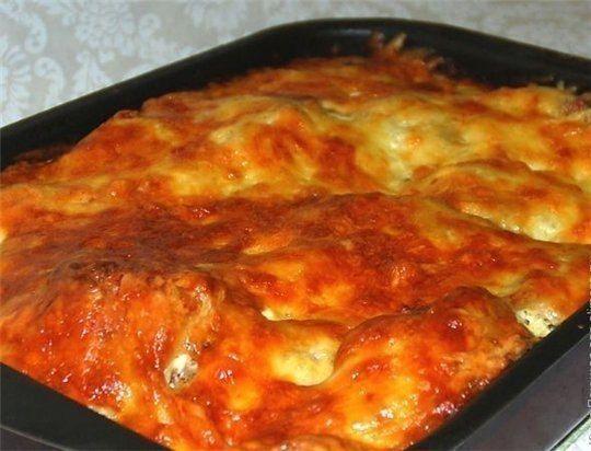 Курица, запеченная с гречкой