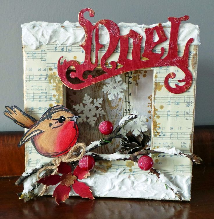 danas wakley birds | Katy has flipped over a canvas, and used the reverse as a niche...