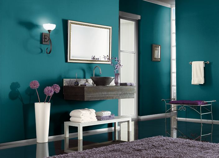 This is the project I created on Behr.com. I used these colors: PEACOCK TAIL(S-H-520),
