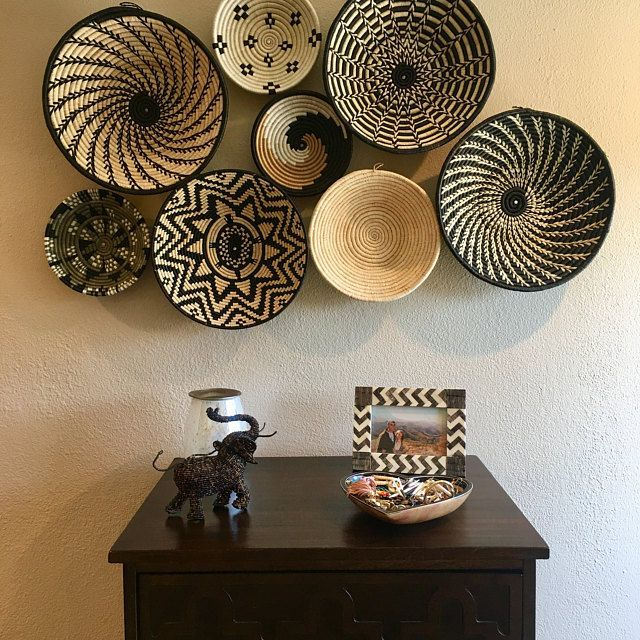 Binga Baskets African Wall Basket Wall Decor Tribal Baskets Tonga Baskets Gift For Her Wedding Gift African Decor Living Room In 2020 With Images African