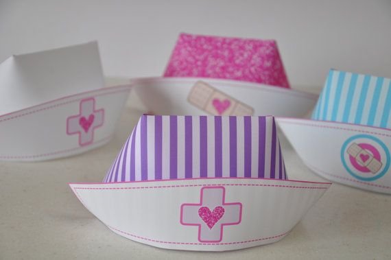 Doc McStuffins Nurse Hat PDF printable nurse hat / photo booth prop for Doctor…