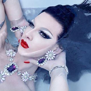 A bath seems appropriate, still recovering from Atlanta Pride weekend.  Repost from @sanchezzalba - TODAY'S HOLIDAY: On the occasion of National Bathtub Day why not take time out for a luxuriant soak, like divine Violet Chachki? @violetchachki (Jewels are optional) #nationalbathtubday #bathingbeauty #violetchachki #albertsanchez