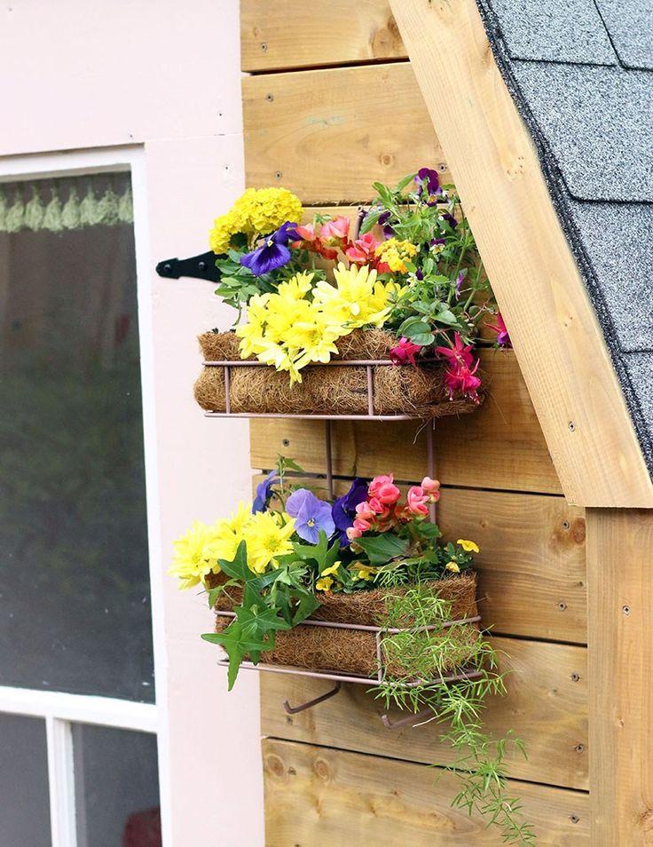 DIY Shower Caddy Wall Garden - Hello Yellow Blog