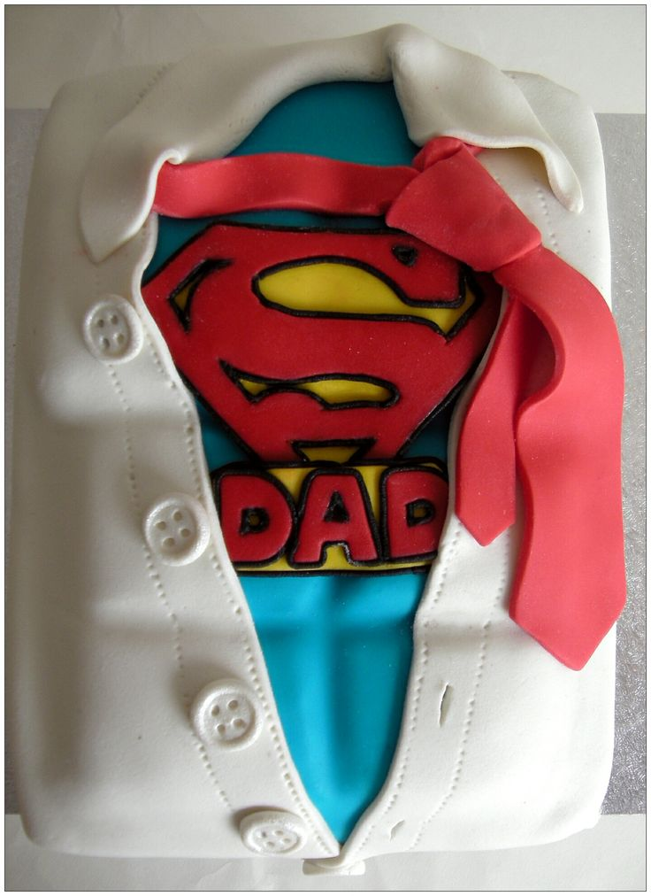 Super Dad cake  Cakes & Sweets  Pinterest  Dads, Cakes and Dad cake