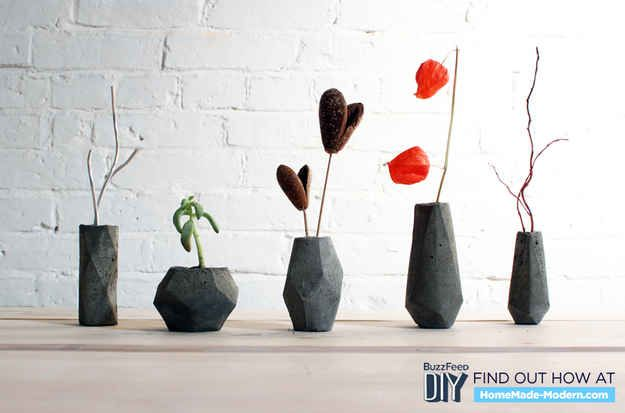 Concrete Bloktagons | 7 DIY Concrete Projects You Can Make With One $5 Bag Of Concrete Mix