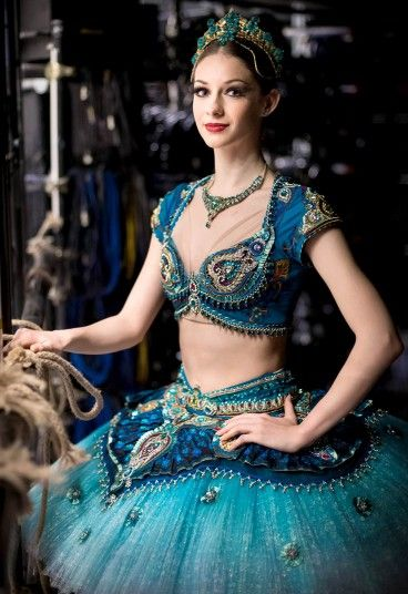 First Soloist Laurretta Summerscales poses for a portrait backstage prior to a press performance of Le Corsaire by the English National Ball...
