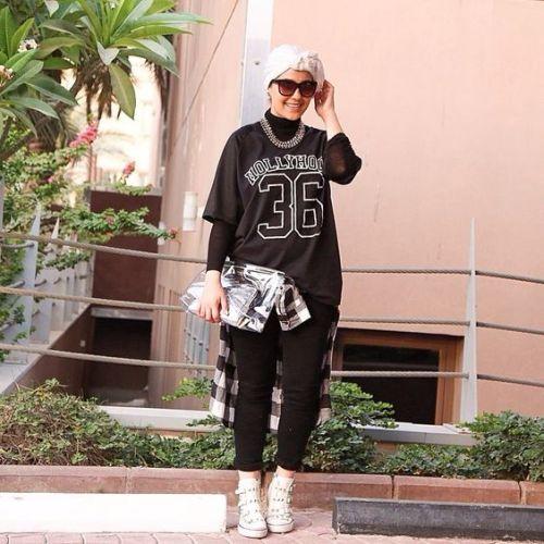 sporty hijab turban look