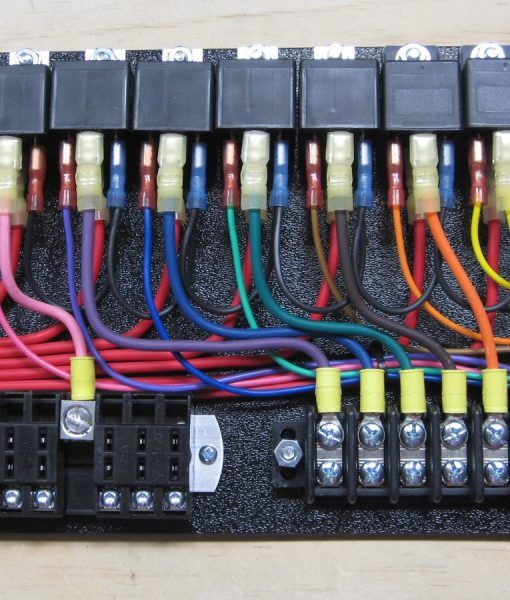 house distribution board wiring diagram white rodgers thermostat 1f82 261 7-relay panel with switched   car building pinterest jeeps, cars and stuff