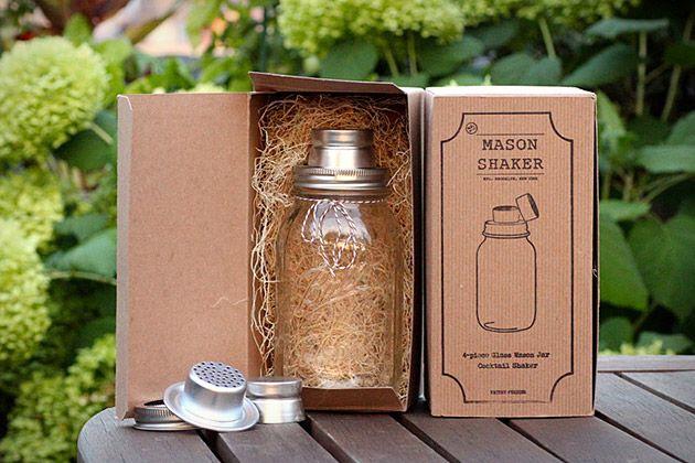 Mason Shaker. I love everything about this. $30: Mason Shakers, Canning Jars, Gifts Ideas, Mason Jars Cocktails, Wine Glasses, Masonjar, Drinks, Mason Jar Cocktails, Cocktails Shakers