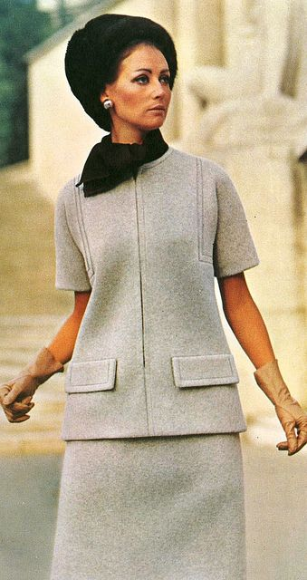 Model by:Givenchy.French Vogue,May 1969.
