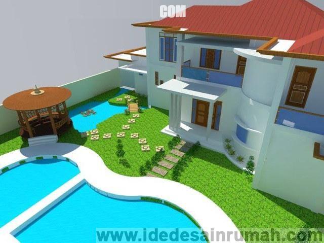 Desain Rumah Minimalis Ukuran 6x8  rumah minimalis 2 lantai tampak belakang 200x150 contoh