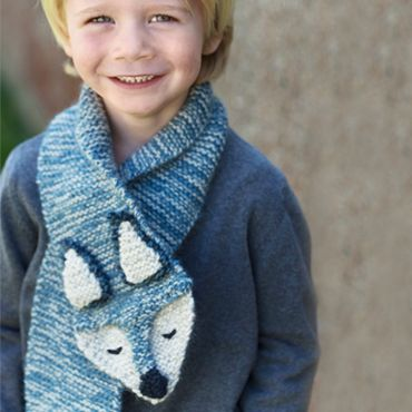 Free knitting pattern for Gunther the fox scarf