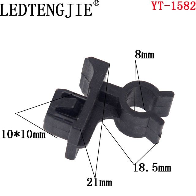 Free Shipping Auto Fastener Yt 1582 10pcs Hole Car Rivets Hood Bonnet Prop Rod Clip Support Clamp Holder Panel Fende Bumpers Plastic Items Interior Accessories
