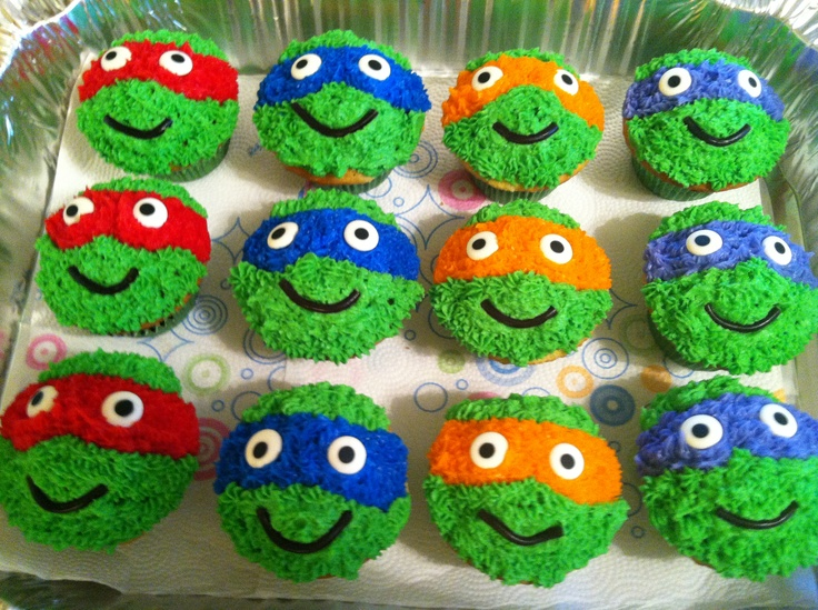 TEENAGE MUTANT NINJA CUPCAKES | BOYS:: Fun For Boys ... Cool Cupcakes For Boys