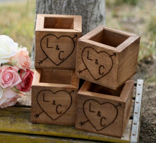 Rustic Barnwood 4x4 Planter Box $9 each / 3 for $8 each