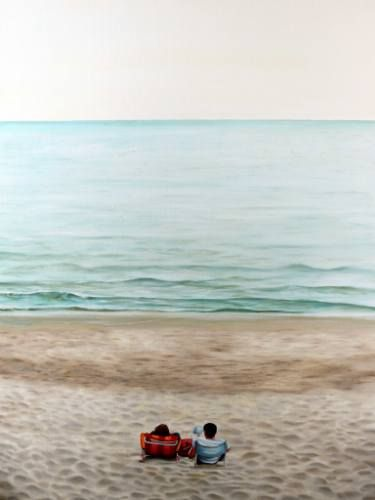 "Saatchi Art Artist Gennaro Santaniello; Painting, ""A spring morning at the sea"" #art"