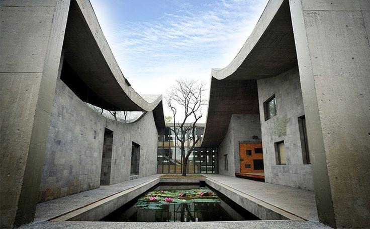 wang shu erects san-he housing prototype in sifang park - designboom | architecture
