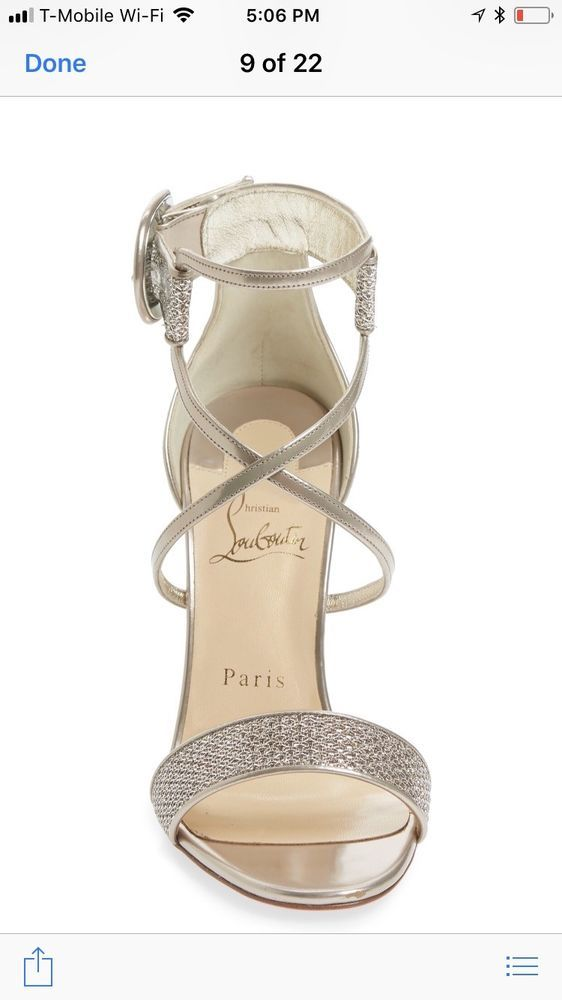 2d50943cb884 Christian Louboutin Women Choca Lux Ankle Strap Sandal  Size 39 Rose Gold (2)   fashion  clothing  shoes  accessories  womensshoes  heels (ebay link)