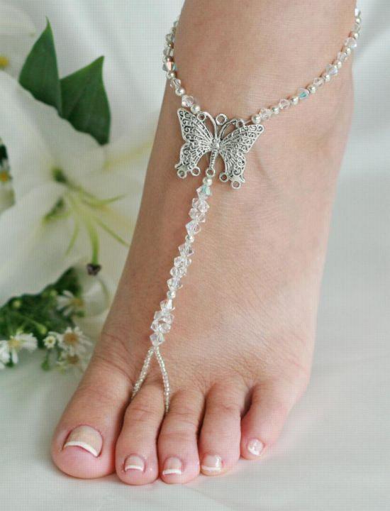 Beach wedding sandals!
