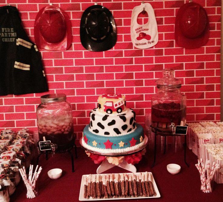 Fireman Theme Baby Shower Dessert Table Jml Pinterest