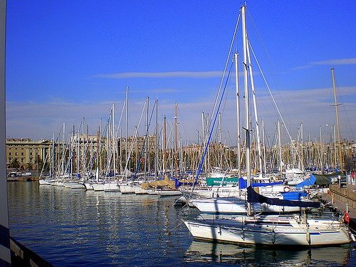 love sitting chilling and people watching at Port Vell - Barcelona