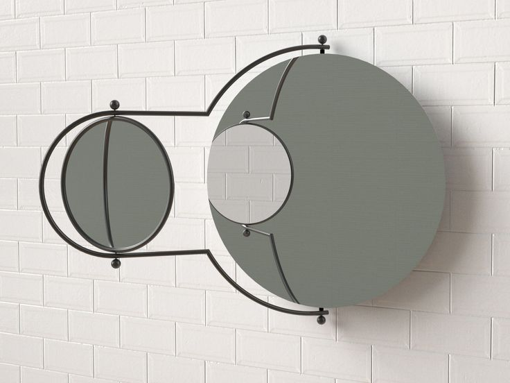 Wall-mounted mirror ORBIT By OMK 1965 design Rodney Kinsman