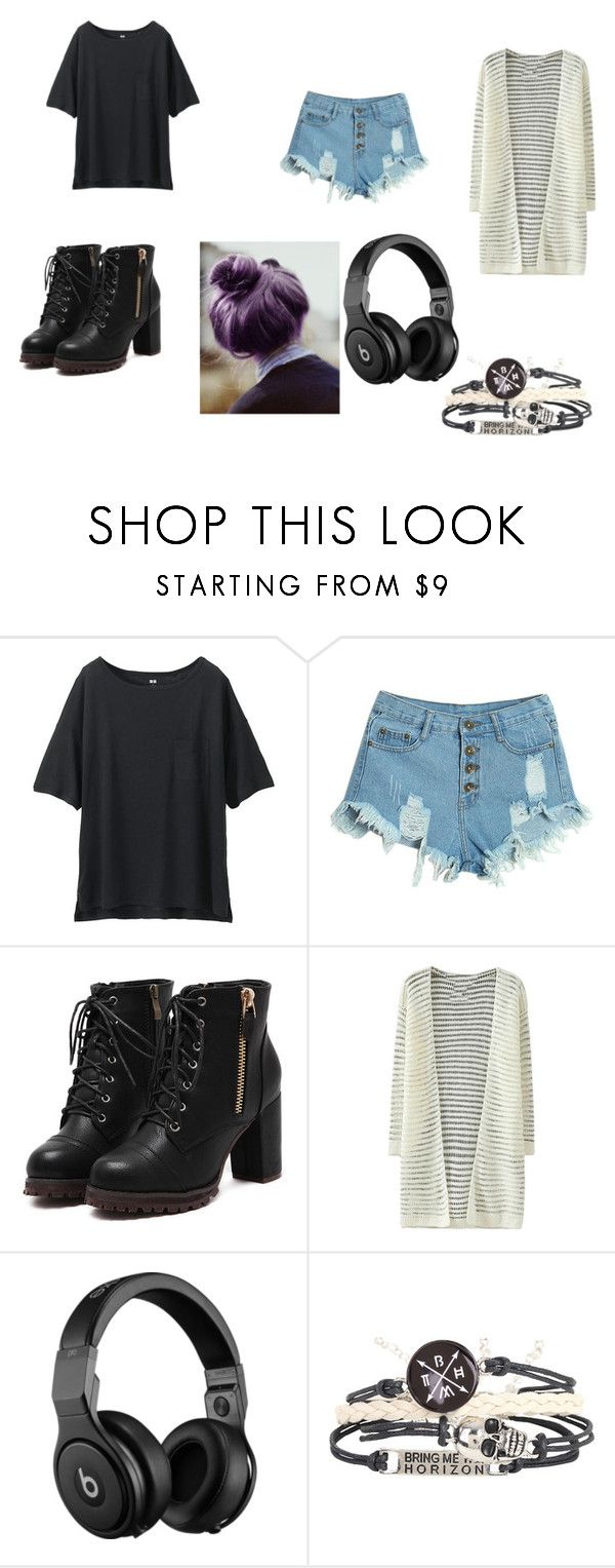 """""""#78"""" by sadradinova-polina on Polyvore featuring мода, Uniqlo, WithChic, Beats by Dr. Dre, women's clothing, women's fashion, women, female, woman и misses"""