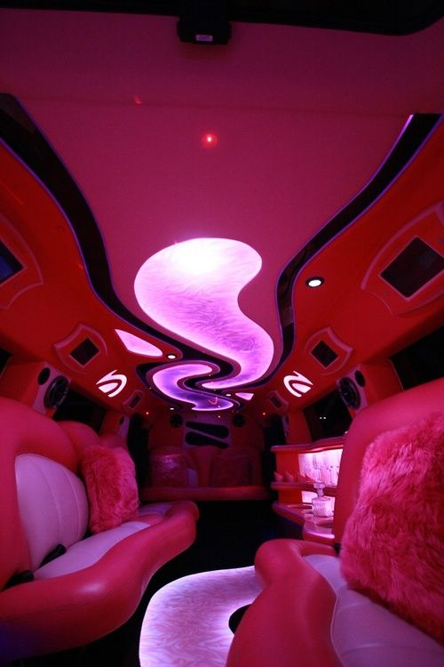Pink limo interior wish it was purple but still chill looking