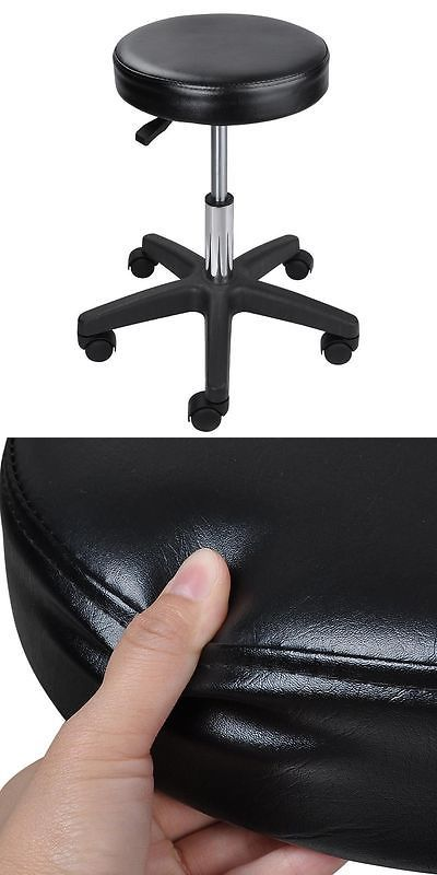 Other Salon and Spa Equipment: Black Adjustable Height Tattoo Salon Stool Rolling Chair Facial Massage Office -> BUY IT NOW ONLY: $32.9 on eBay!