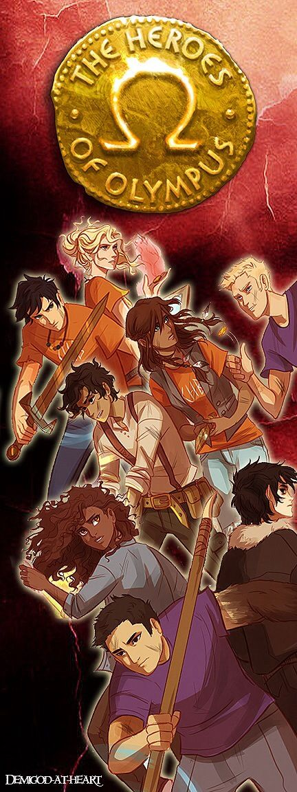 The seven demigods of the great prophecy and Nico!!! << PFFT it's just like THE SEVEN DEMIGODS!!! ... oh and Nico. and where the heck is Reyna?!