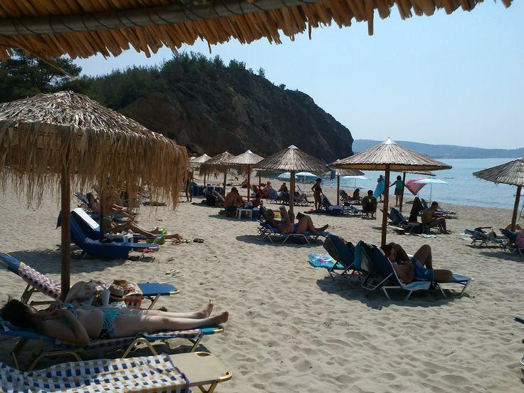 Beach, Sun, Limenaria, Greece