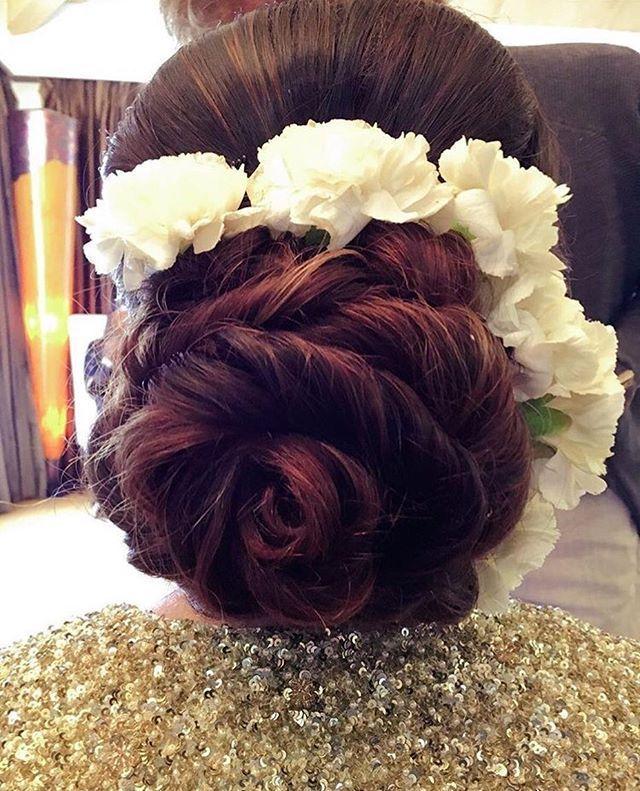 Wedding Hairs Weddingday Red Roses Hair Artistry By Archana