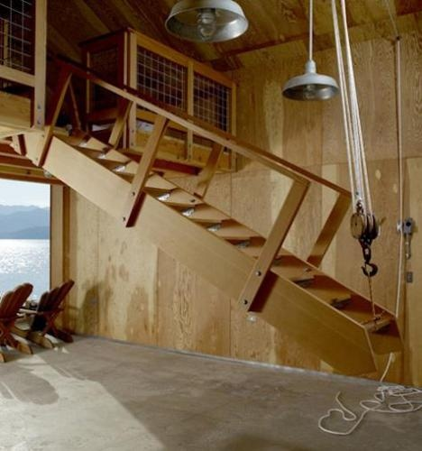 23 best stair images on pinterest stairs stairways and for Garage loft stairs