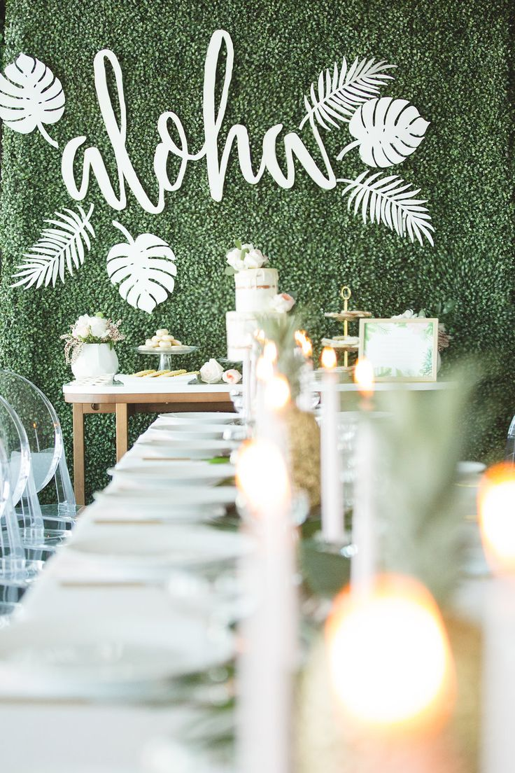 fun bridal showers - photo by Parrish House Photos http://ruffledblog.com/hawaiian-inspired-bridal-shower
