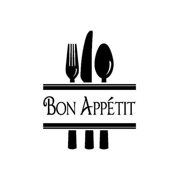 Silverware Bon Appetit Vinyl Wall Or Tile By Empressivedesigns