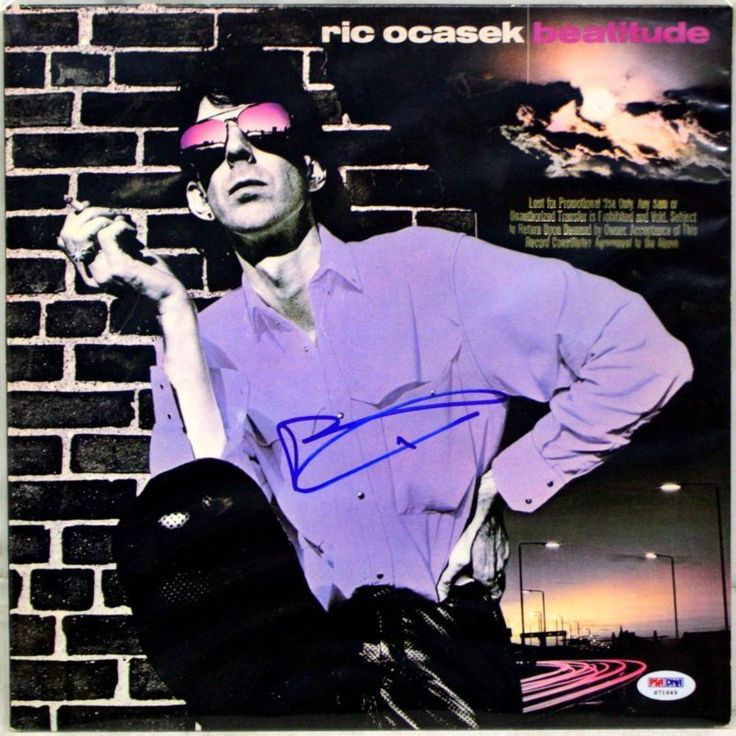RIC OCASEK - THE CARS - Hand Signed LP Cover - PSA/DNA - UACC RD#289